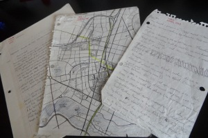 Some of the original notes from 1993.