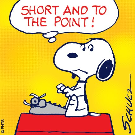 snoopy short and to the point
